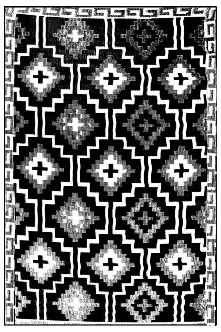 Lhasa Black and Cream Outdoor Moroccan Rug