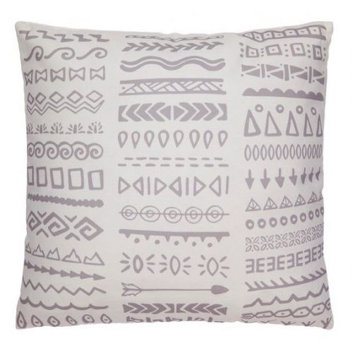 Tribal Grey and White Outdoor Cushion   50x50 CM