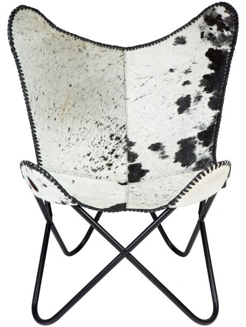 Zerene Hairon Leather Butterfly Chair