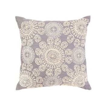 Altair Blue Embroidered Indoor Cushion