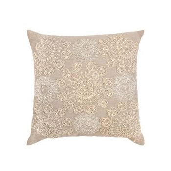 Altair Beige Embroidered Indoor Cushion
