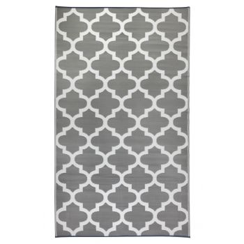 Tangier Grey and White Outdoor Rug