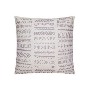 Tribal Grey and White Outdoor Cushion | 50x50 CM