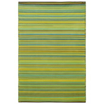 Cancun Lemon and Apple Green Outdoor Rug