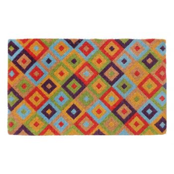 Saman Multicolour 100% Coir Door Mat