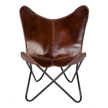 Woodland Leather Butterfly Chair