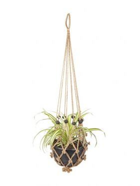 Sika with Black Beads (set of 4) Plant Hanger & Pot Holder