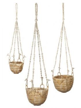 Savar (set of 3) Handmade Hanging Planters