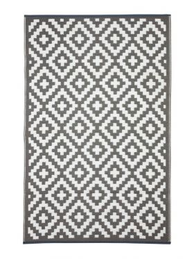 Aztec Grey and White Camping Mat