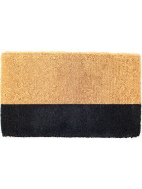45 cm x 75 cm Black Belt 100% Coir Doormat