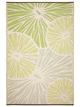 Citrus Lily Green Outdoor Rug