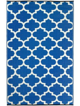 Tangier Regatta Blue and White Outdoor Rug
