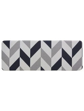 Herringbone Navy Laundry & Kitchen Mat