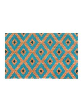Kimberley Blue PVC Backed Coir Door Mat
