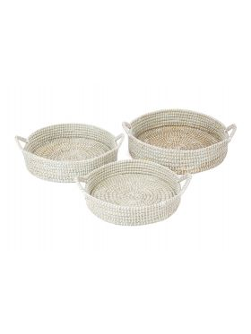 Mowdok (set of 3) Handmade Trays
