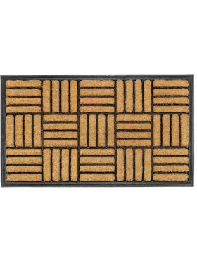Parquet Tiles Rubber Bordered Coir Doormat