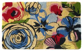 Watercolour 100% Coir Doormat