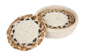 Linnet Jute Braided Round Coaster (Set Of 4)