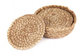 Willow Jute Round Coaster (Set of 4)