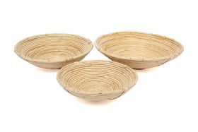 Naini (Set of 3) Handmade Cane Decorative Fruit Bowls