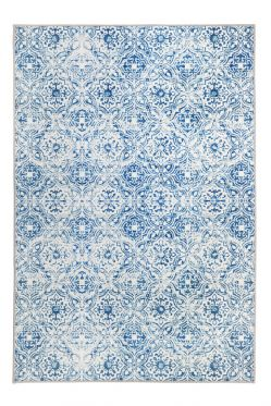 Mozaic Tiles Blue Designer Area Rug