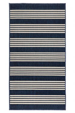 80 x 150 cm Mariona Blue Outdoor Floor Mat