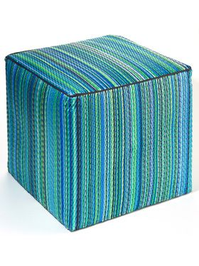 Cancun Aqua Indoor/Outdoor Ottoman