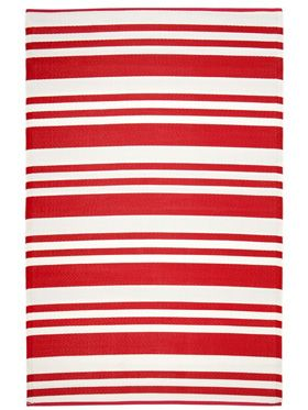 Cherai Bright Red Outdoor Rug