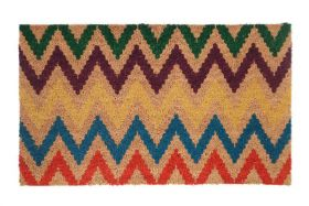 Chevron PVC Backed Coir Door Mat