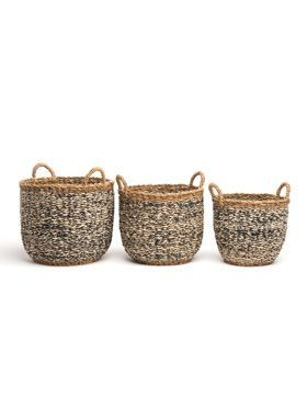 Ebony (set of 3) Handmade Seagrass & Jute Basket