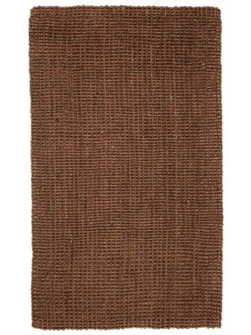 Estate Dark Brown Jute Rug