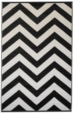 Laguna Black Outdoor Rug