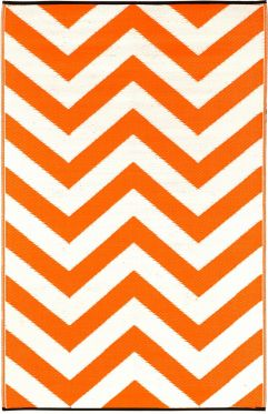 Laguna Orange Outdoor Rug
