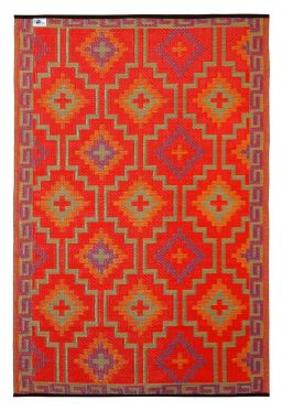Lhasa Orange and Violet Outdoor Rug