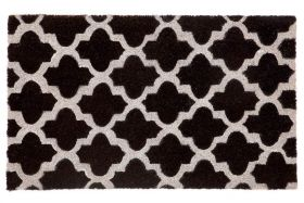 Girih Black PVC Backed Coir Door Mat