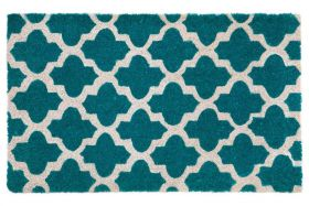 Girih Blue PVC Backed Coir Door Mat