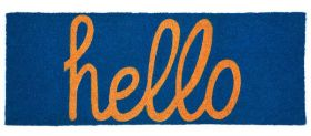Hello PVC Backed Coir Door Mat 45 cm x 120 cm