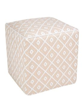 Kimberley Beige Indoor/Outdoor Ottoman