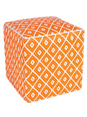 Kimberley Orange Indoor/Outdoor Ottoman