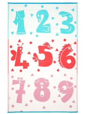 Little Portico's Numbers Indoor/Outdoors Kids Rug