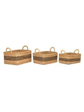 Palash (set of 3) Handmade Seagrass Basket
