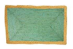 60 cm x 90 cm Phoenix Sea Green Jute Door Mat