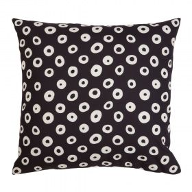 Speckle Black and Beige Outdoor Cushion | 50x50 CM