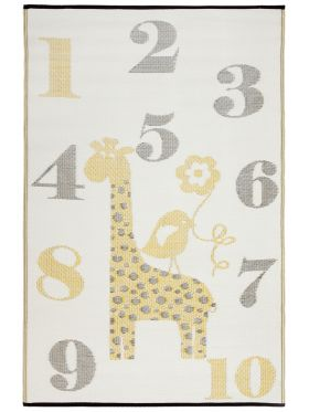 Sunny Giraffe Indoor/Outdoor Kids Rug