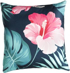 Tropical Hibiscus Outdoor Cushion | 50x50 CM