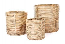 Ubud (set of 3) Handmade Basket and Planters