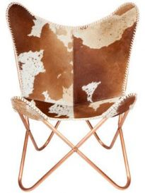 Alexandra Hairon Leather Butterfly Chair
