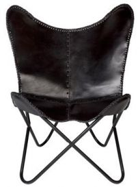 Monarch Leather Butterfly Chair