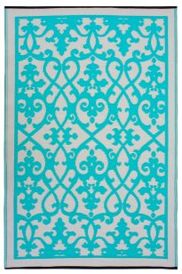 Venice Turquoise Outdoor Rug