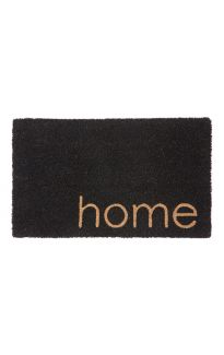Black Home PVC Backed Coir Doormat